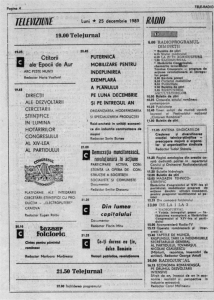 program-radio-tv-prevazut-pentru-25-decembrie-1989-inainte-de-revolutie