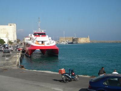 vaporul nostru pe ruta creta-santorini si retur
