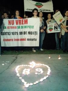 mars Rosia Montana Oradea - lumanari comemorative Certej