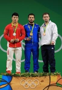 rio 2016 - haltere podium