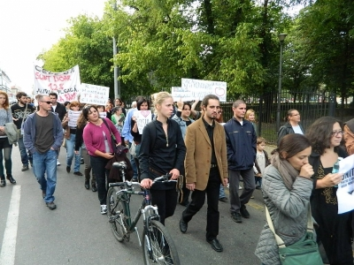 protest - mars rosia montana 15 sep la oradea