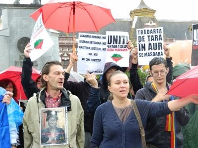 protest rosia montana la oradea