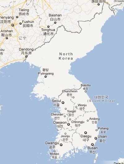 coreea de nord - google maps