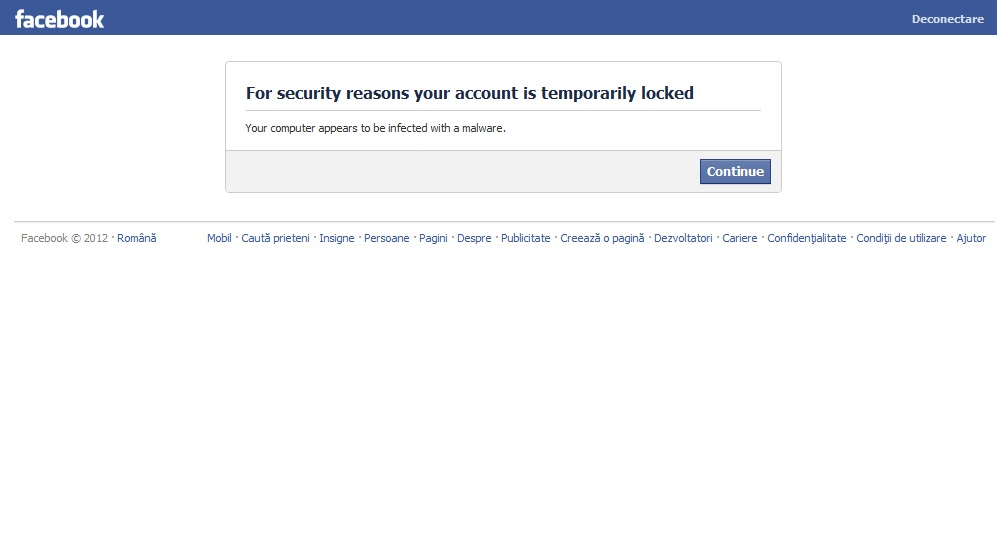 facebook blocat