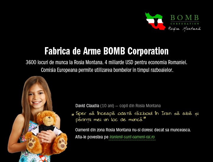 bomb corporation/gold corporation - rosia montana