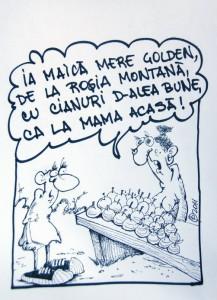 caricatura ovi pascu rosia montana golden cianuri