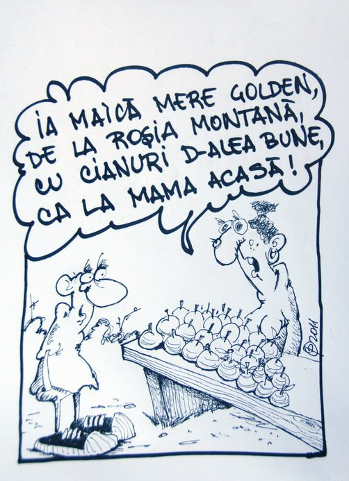 caricatura ovi pascu rosia montana golden
