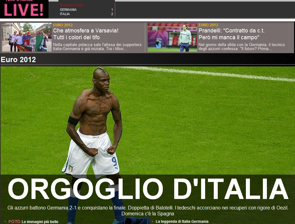 Balotelli Super-star Italia - Germania 2-1
