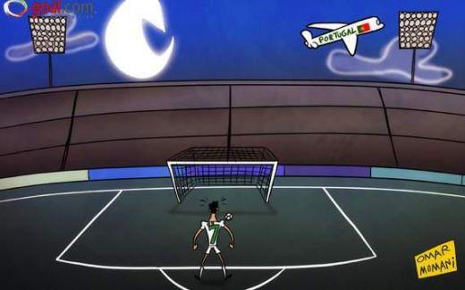 Ronaldo executa penalty-ul cu Spania