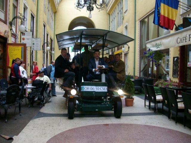 Cseke Attila in bici-omnibus