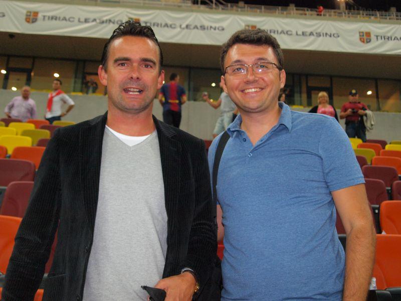Amintire cu Marc Overmars, la tribuna VIP a Arenei Nationale
