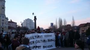 Flashmob pentru sustinerea redeschiderii Moszkva Caffe