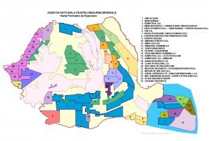harta ANRM cu perimetrele concesionate