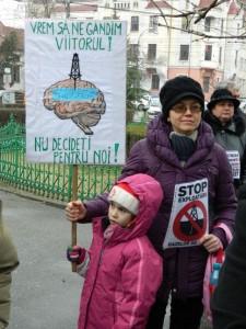 protest impotriva gazelor de sist, la oradea