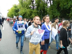 protest - mars anti-cianuri la rosia montana, in oradea