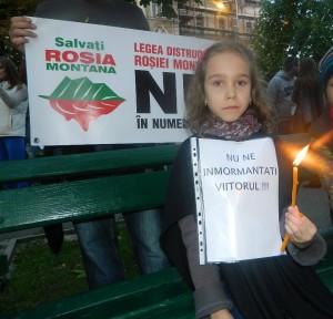protest rosia montana - oradea