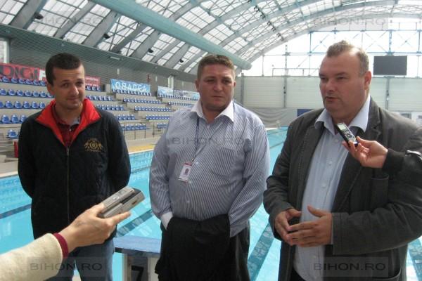 Florin Birta, Cristian Beltechi (seful AIO) si viceprimarul Ovidiu Muresan