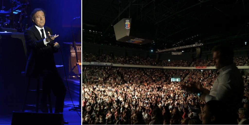 Publicul s-a lăsat vrăjit de muzica lui Julio Iglesias Foto JB EPA