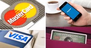 btc visa mastercard paypal amex