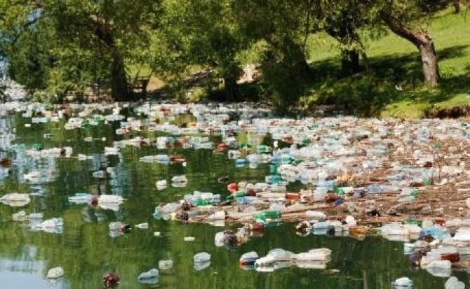 Ape poluate cu flacoane, in bazinul Crisuri