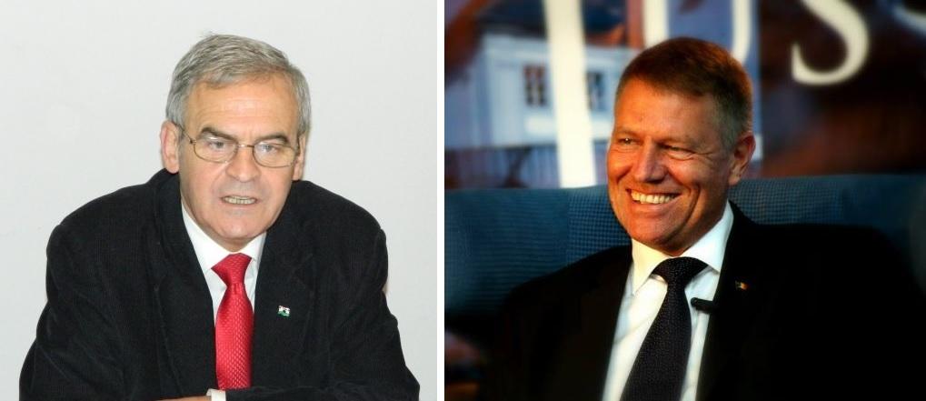 Tokes Laszlo şi Klaus Iohannis