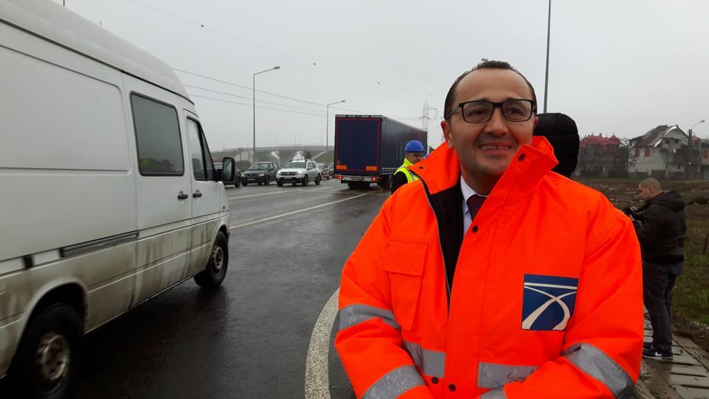 Prefectul Claudiu Pop, la inaugurarea pasajului de pe Centura, de langa Metro - CET II