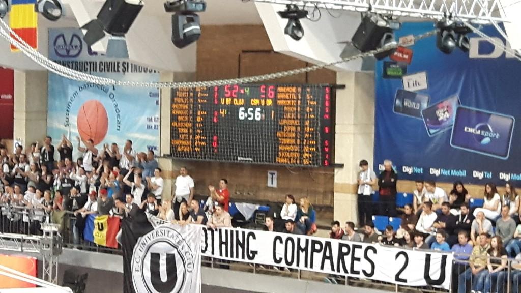 Tabela CSM Oradea - U Cluj. Cu şapte minute înainte de final, orădenii conduceau cu patru puncte. Un avantaj pe care nu au fost în stare să îl conserve.