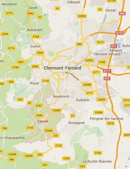 Ceyrat, suburbia oraşului francez Clermont - Ferrand
