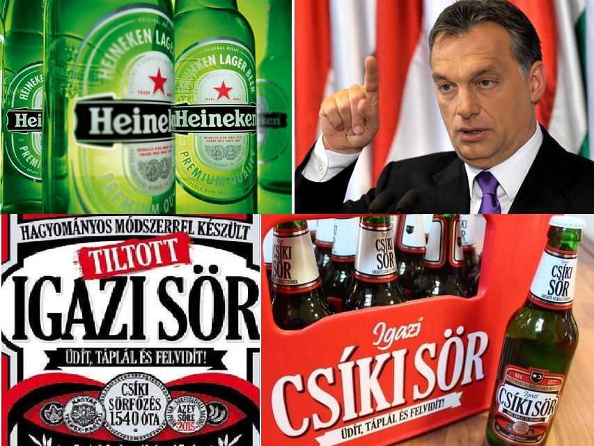 Heineken vs Orban pentru Csiki
