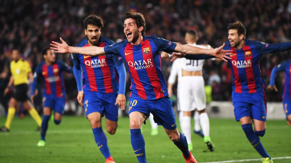 Sergi Roberto duce Barcelona in sferturi Getty Images
