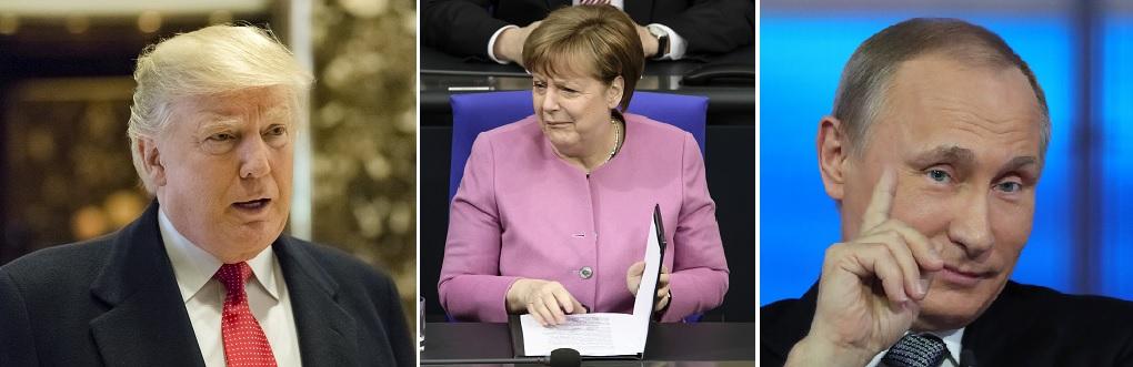Trump Merkel Putin Foto EPA
