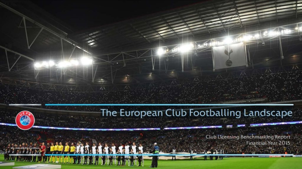 The European Club Footballing Landscape Tabloul Fotbalului European de Club Sursa: UEFA