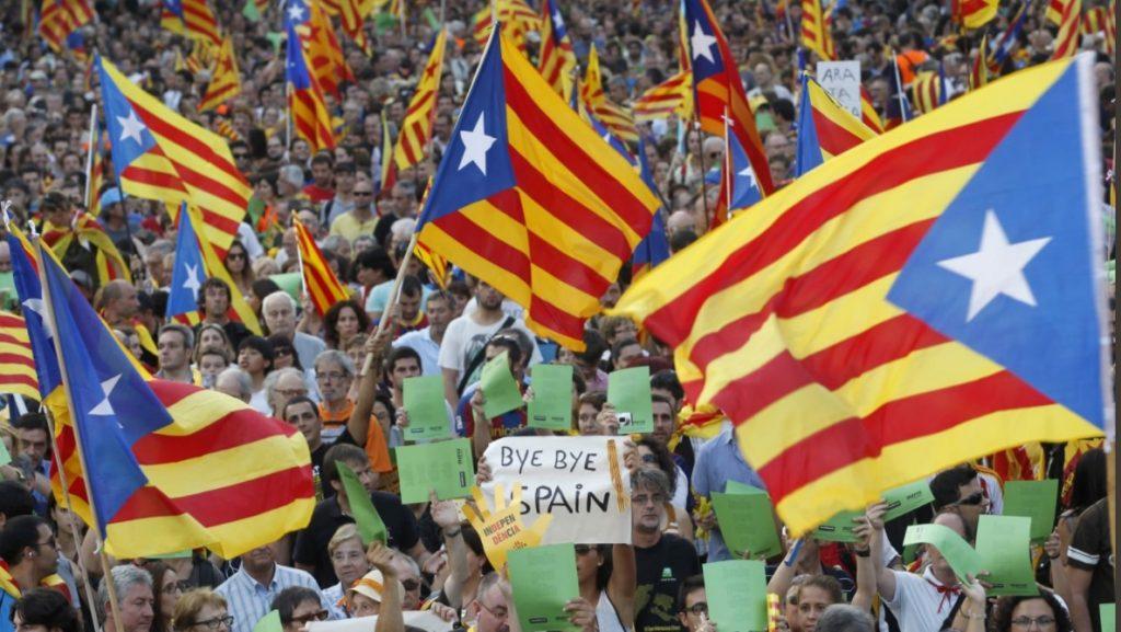 Miting pro-Catalonia la Barcelona Foto Twitter / Forca Barca