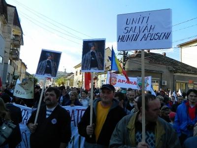 protest anti-cianuri in tara motilor la campeni