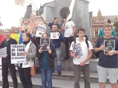 protest anti-cianuri la rosia montana, in oradea