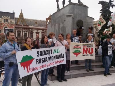 protest rosia montana oradea