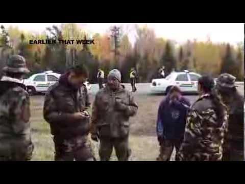 Indienii din Canada lupta, la propriu, impotriva gazelor de sist!